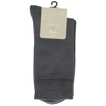 Men's socks - 2 pairs bata, gray , 919-2363 - 13