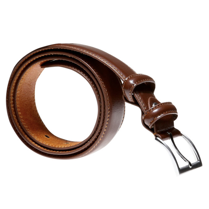 Men's Leather Belt bata, brown , 954-3121 - 13