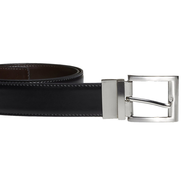 Men's Leather Belt bata, black , 954-6122 - 26