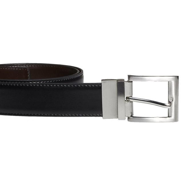 Men's Leather Belt, black , 954-6122 - 26