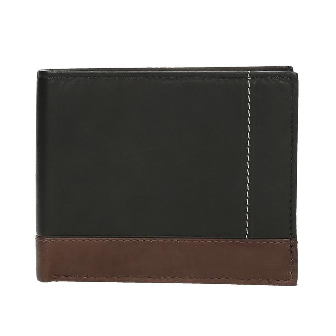 Men's leather wallet, black , 944-6149 - 26