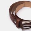 Men's brown leather belt, brown , 954-3170 - 16