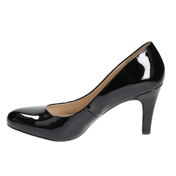 Ladies' leather pumps insolia, black , 728-6633 - 26