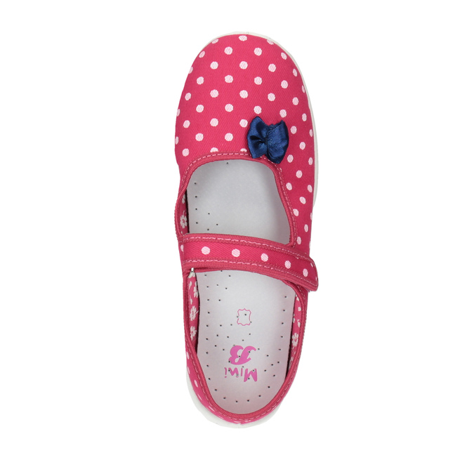 Children's slippers with a strap across the instep mini-b, pink , 379-5209 - 19