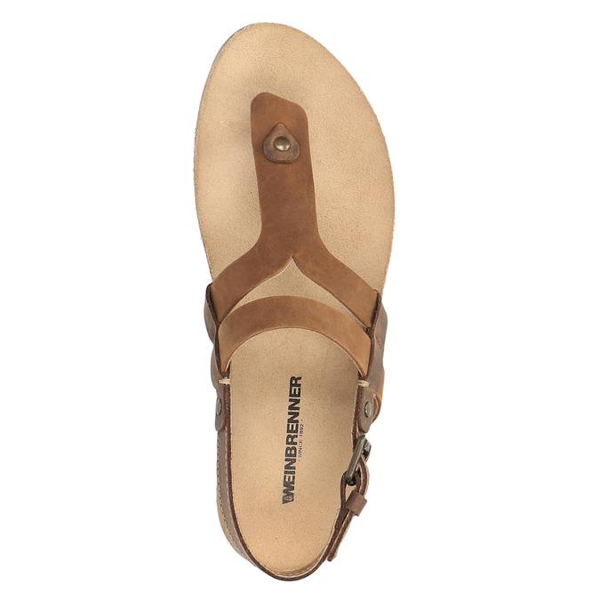 Ladies' leather sandals weinbrenner, brown , 566-4101 - 19