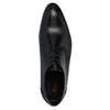 Leather shoes with a pattern conhpol, black , 826-6730 - 19