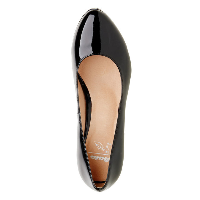 Patent leather pumps insolia, black , 728-6104 - 19