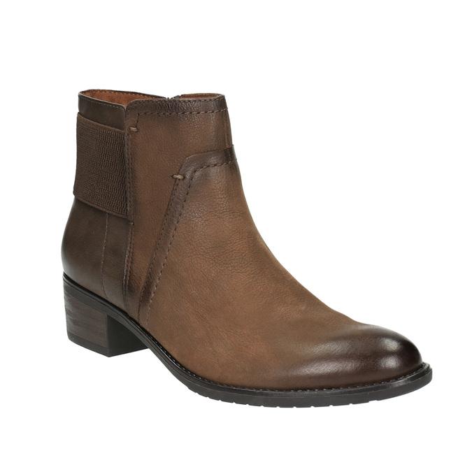 Ladies' ankle shoes bata, brown , 696-4605 - 13