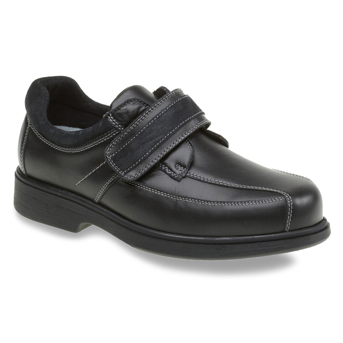 Leather Sneakers, black , 834-6001 - 13