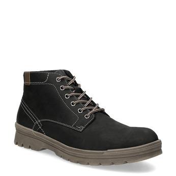 Men's leather winter boots weinbrenner, black , 896-6107 - 13