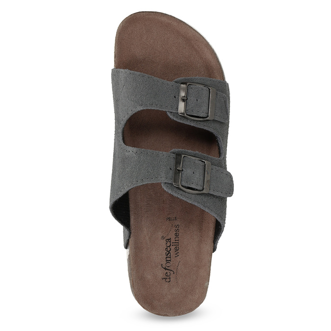 Men's slippers de-fonseca, gray , 873-2610 - 17