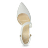 Pointed white pumps with an instep strap bata, white , 724-1904 - 17