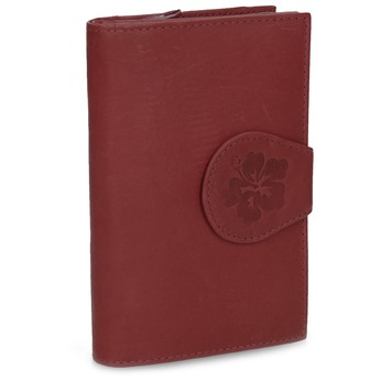Ladies' leather purse bata, red , 944-5155 - 13