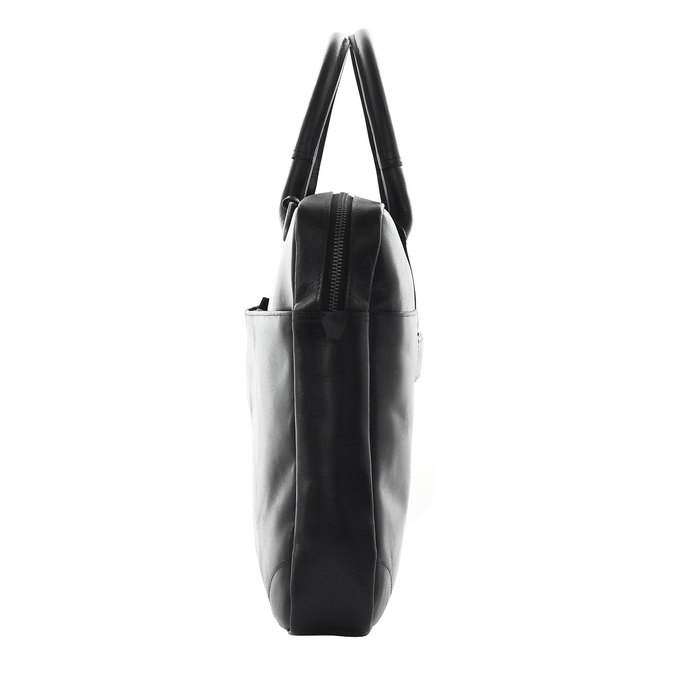 Leather bag with strap royal-republiq, black , 964-6199 - 17