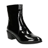 Ankle boots with lacquered finish bata, black , 691-6630 - 13