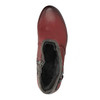 Ladies´ ankle-cut shoes with warm padding bata, red , 696-5617 - 19