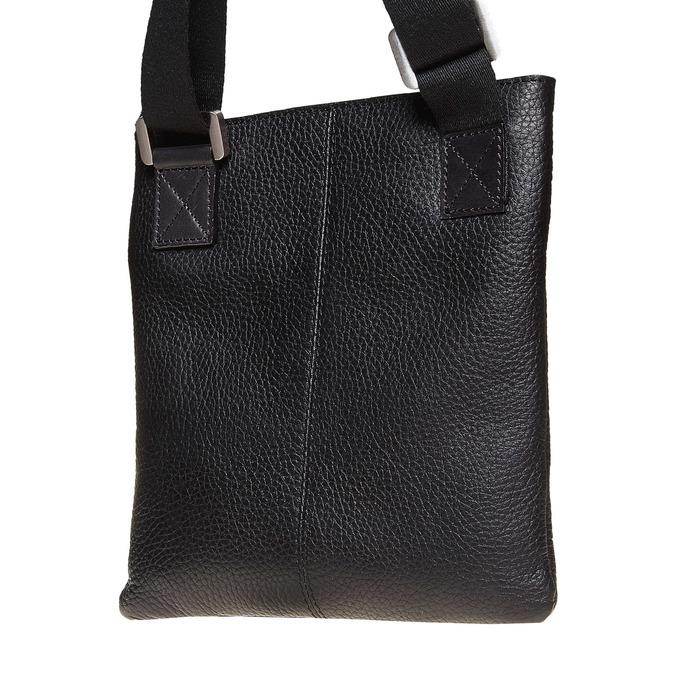 Leather cross body bata, black , 964-6131 - 17