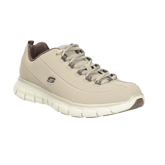 Ladies' leather sneakers skechers, beige , 503-3323 - 13