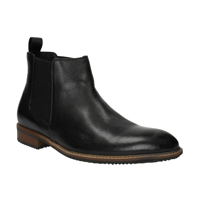 Leather Chelsea Boots bata, black , 894-6666 - 13