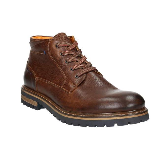 Men´s winter leather footwear bata, brown , 894-3672 - 13