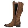 Brown leather Cossacks bata, brown , 596-4604 - 26