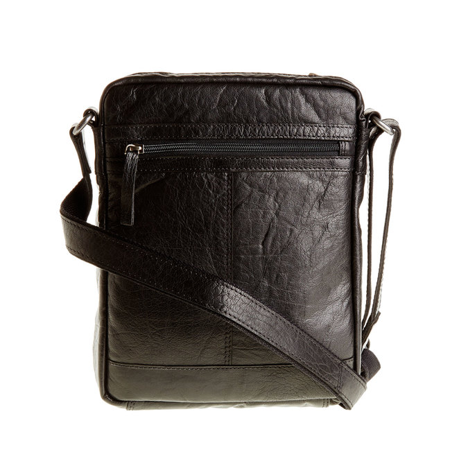 Leather Crossbody bag bata, black , 964-6180 - 26