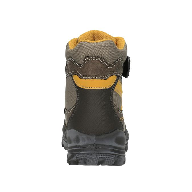 Children's winter boots with Velcro fasteners mini-b, brown , 499-3103 - 17