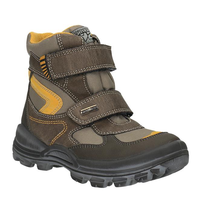 Children's winter boots with Velcro fasteners mini-b, brown , 499-3103 - 13