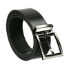 Gentlemen´s leather belt bata, black , 954-6129 - 13