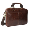 Men's leather satchel bata, brown , 964-4204 - 13