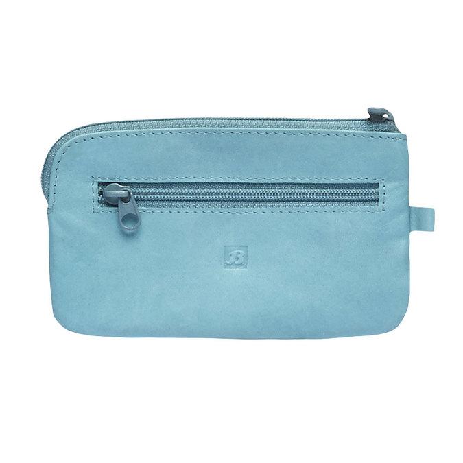 Leather purse bata, blue , 944-9161 - 26