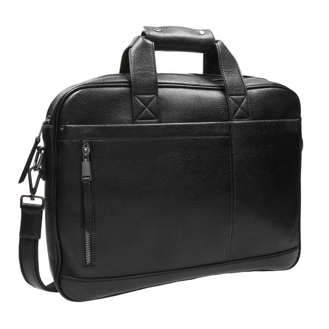 Satchel with detachable strap bata, black , 961-6269 - 13