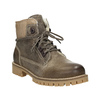 Leather winter boots with fur weinbrenner, brown , 594-2491 - 13