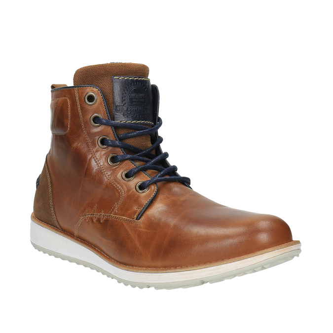 Leather ankle boots with a casual sole bata, brown , 894-3660 - 13