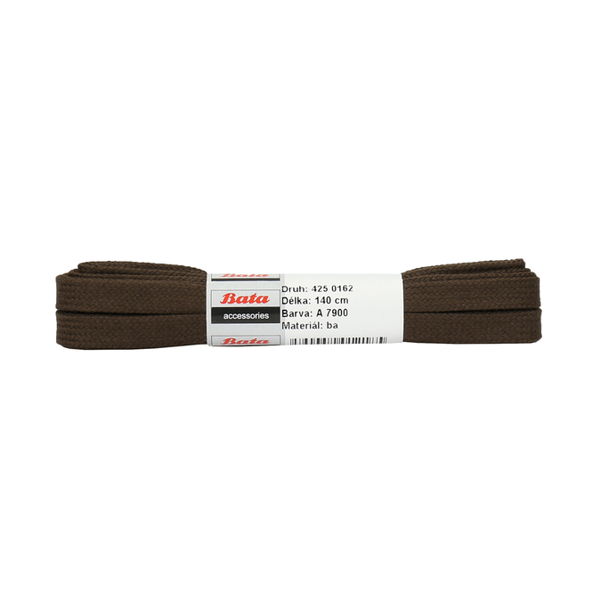 Brown flat laces, brown , 901-4140 - 13