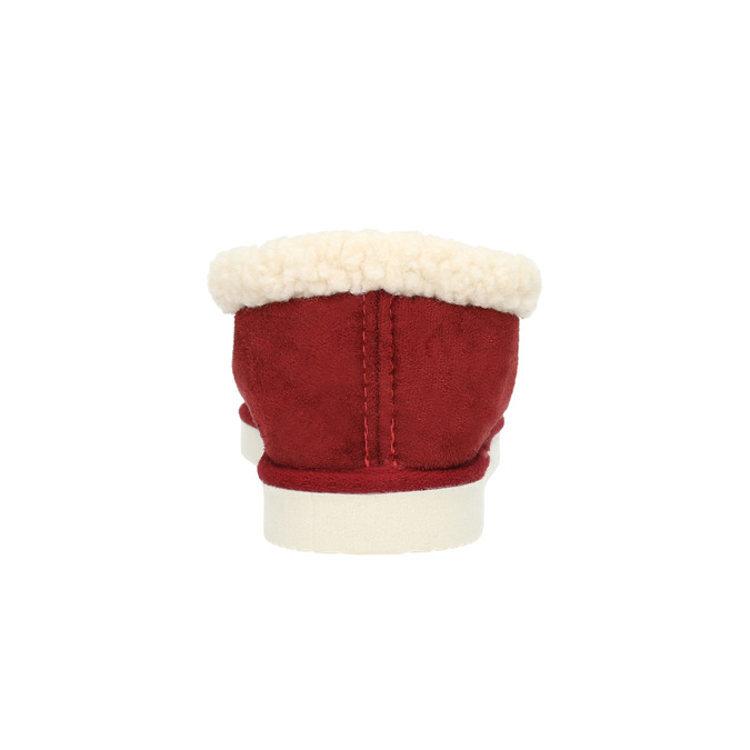 Slippers with artificial fur bata, red , 579-5612 - 17