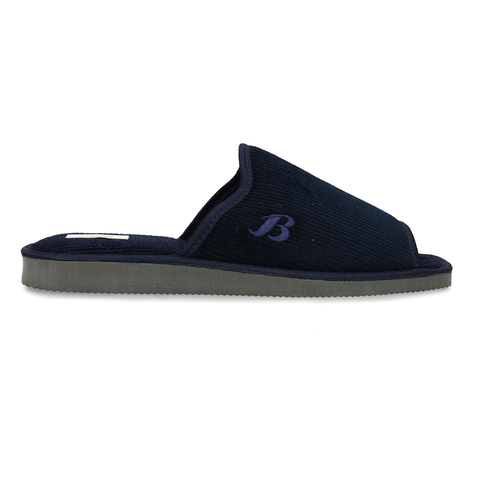 Men's slippers bata, blue , 879-9609 - 19