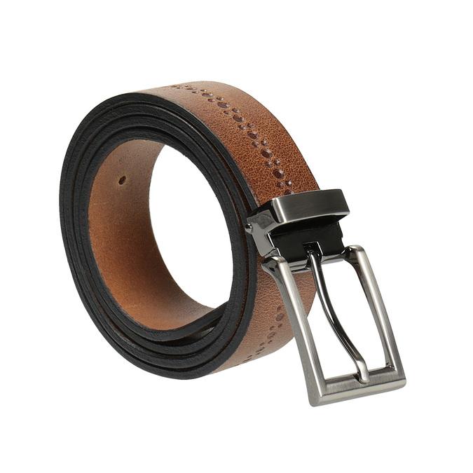 Gentlemen´s leather belt bata, brown , 954-3101 - 13