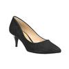 Elegant low-heeled pumps bata, black , 629-6631 - 13