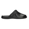 Men's leather slippers comfit, black , 874-6600 - 15