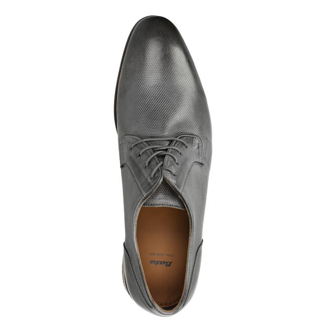 Men's leather Ombré shoes bata, gray , 826-2794 - 19