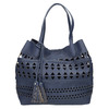 Blue handbag with tassels bata, blue , 961-9274 - 26