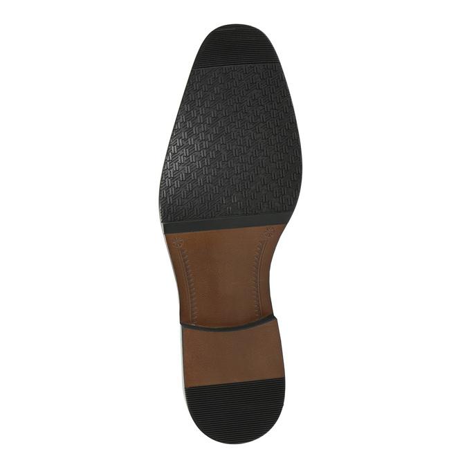 Men's Brogue leather shoes bata, brown , 826-3821 - 26