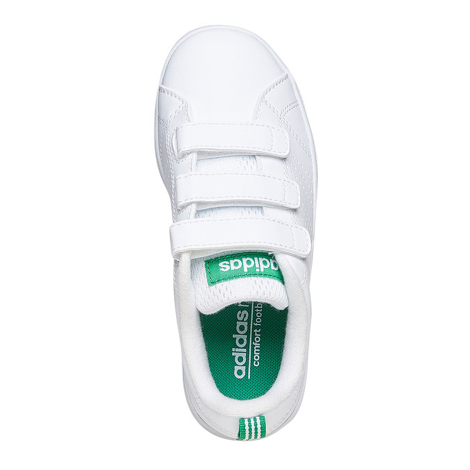 Children's sneakers in white with velcro fastening adidas, white , 301-1168 - 19