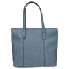 Blue handbag with perforated detail bata, blue , 961-9711 - 19