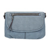 Crossbody handbag with perforated flap bata, blue , 961-9709 - 26