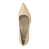 Leather ladies' pumps pillow-padding, beige , 626-8635 - 19