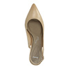 Ladies´ leather Sling-back pumps pillow-padding, beige , 624-8638 - 19