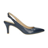 Ladies' leather Sling-back pumps pillow-padding, blue , 624-9638 - 15