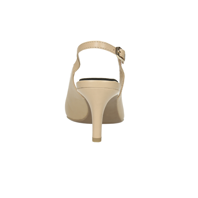 Ladies´ leather Sling-back pumps pillow-padding, beige , 624-8638 - 17